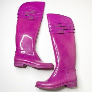 Calvin Klein Ava purple over the knee rain boots